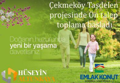 Çekmeköy Taşdelen de Yeni proje